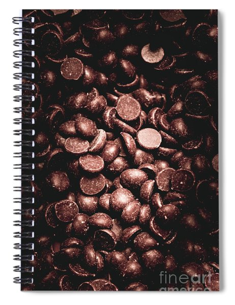 Full Frame Background Of Chocolate Chips Spiral Notebook