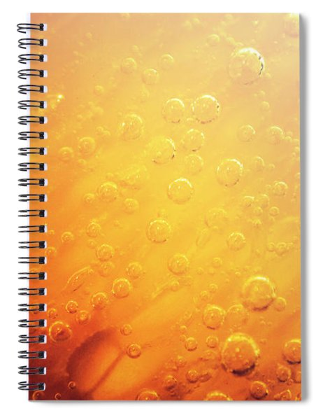 Full Frame Close Up Of Orange Soda Water Spiral Notebook