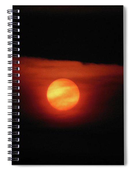 Full Harvest Moon Spiral Notebook
