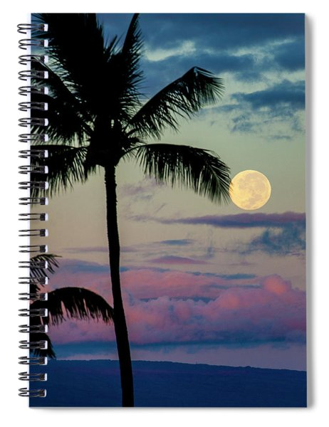 Full Moon And Palm Trees Spiral Notebook