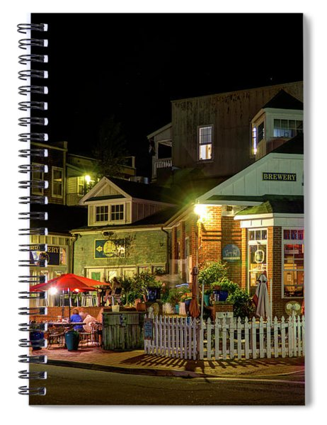 Full Moon Cafe Hdr Spiral Notebook
