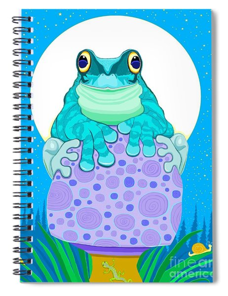Full Moon Froggy  Spiral Notebook