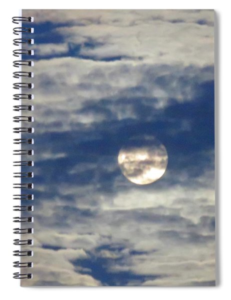 Full Moon In Gemini With Clouds Spiral Notebook