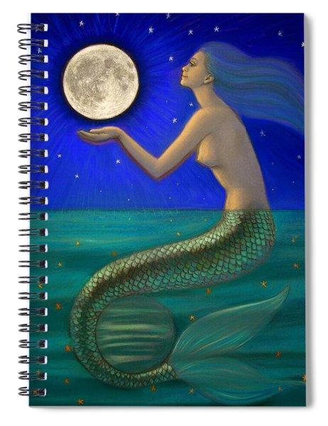 Full Moon Mermaid Spiral Notebook