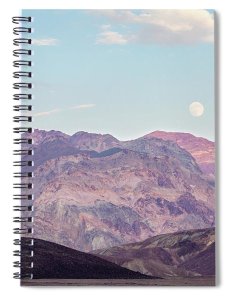 Full Moon Over Artists Palette Spiral Notebook