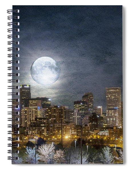 Full Moon Over Denver Spiral Notebook