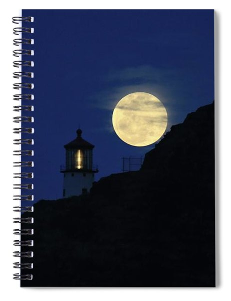 Full Moon Over Makapu'u Light Spiral Notebook
