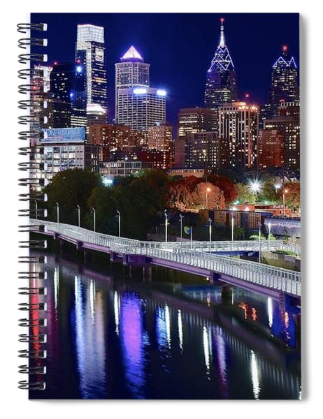Full Moon Over Philly Spiral Notebook