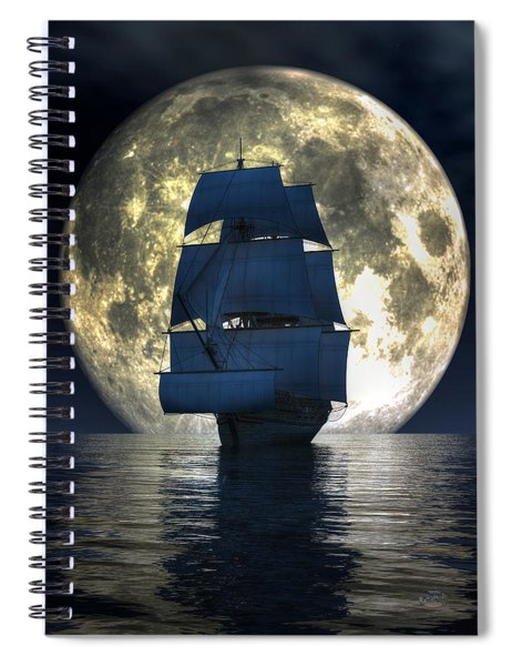 Full Moon Pirates Spiral Notebook