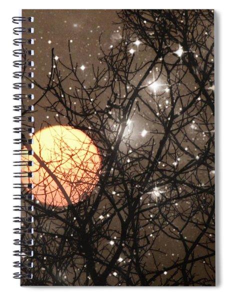 Full Moon Starry Night Spiral Notebook