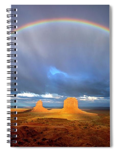 Full Rainbow Over The Mittens Spiral Notebook