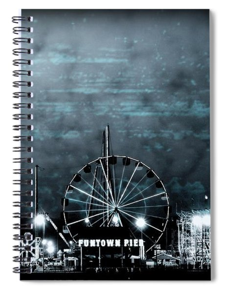 Fun In The Dark - Jersey Shore Spiral Notebook