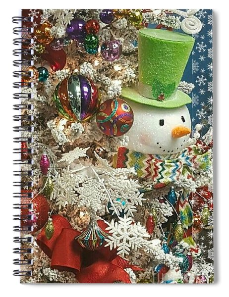 Fun Snowman Holiday Greeting Spiral Notebook