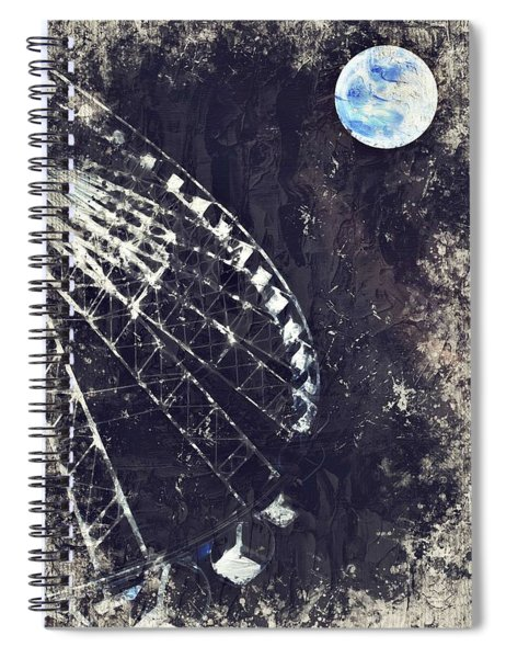 Fun While Space Gazing By Adam Asar 5 Spiral Notebook