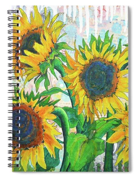 Funflowers Spiral Notebook
