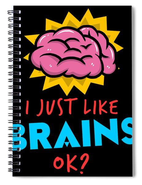 Funny Psychiatrist Brain Apparel Doctor Gift Spiral Notebook