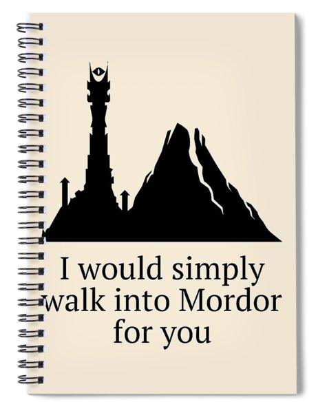 Funny Valentine Card - Lord Of The Rings Fan Gift - Anniversary Card - Love Card - Lotr Valentine Spiral Notebook