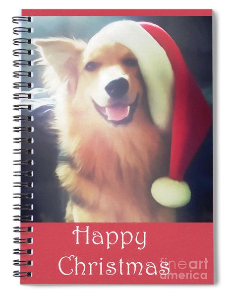 Furry Christmas Elf Spiral Notebook