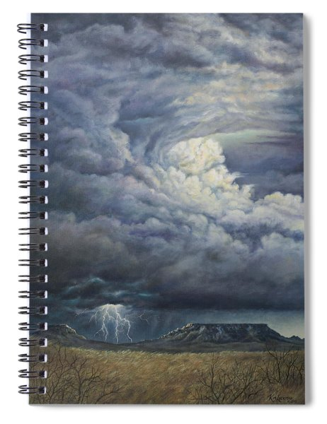 Fury Over Square Butte Spiral Notebook