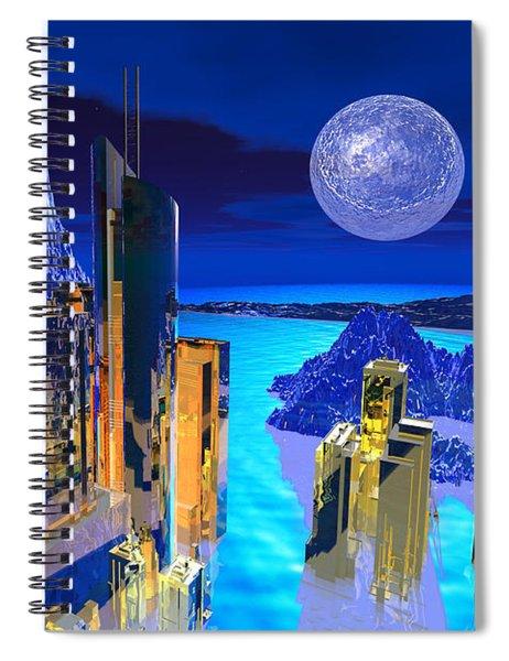 Futuristic City Spiral Notebook