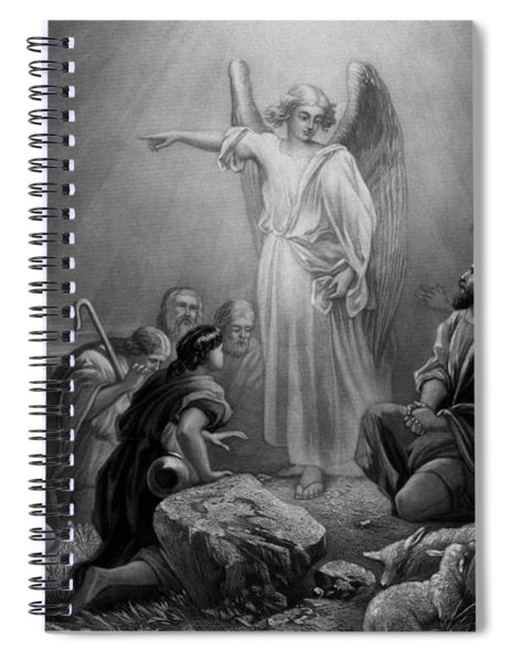 Gabriel Announcing The Birth Of Jesus Spiral Notebook
