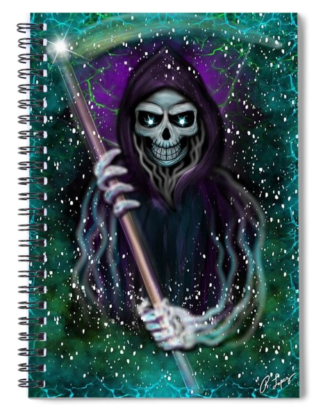Galaxy Grim Reaper Fantasy Art Spiral Notebook