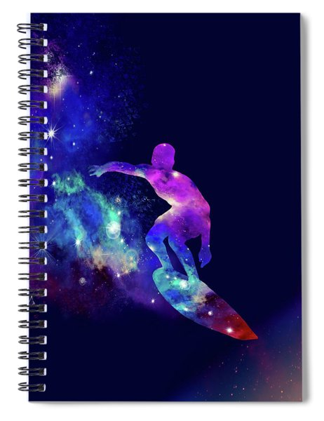 Galaxy Surfer 2 Spiral Notebook