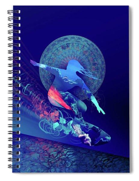 Galaxy Surfer 4 Spiral Notebook
