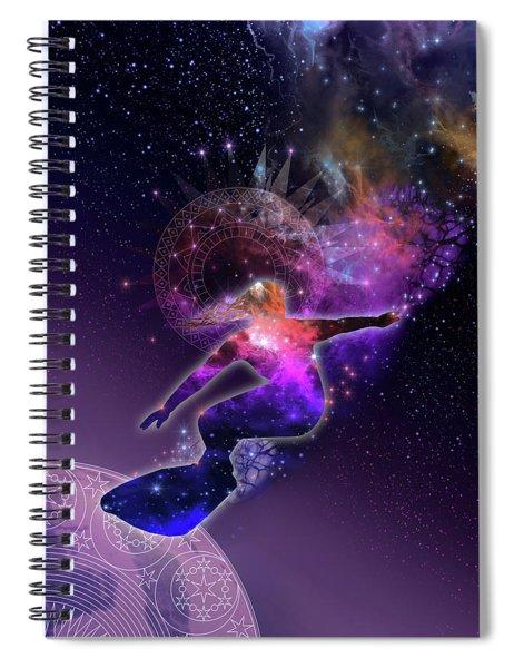 Galaxy Surfer 5 Spiral Notebook