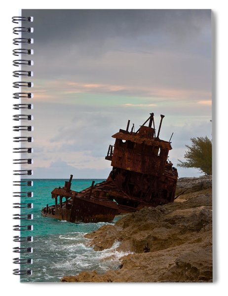 Spiral Notebook featuring the photograph Gallant Lady Aground by Ed Gleichman