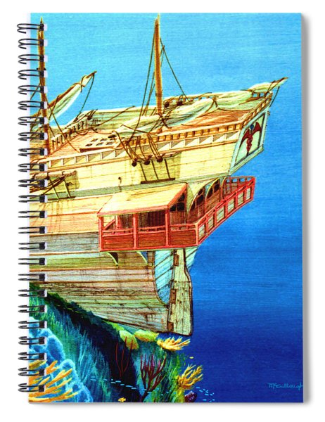 Galleon On The Reef 2 Filtered Spiral Notebook