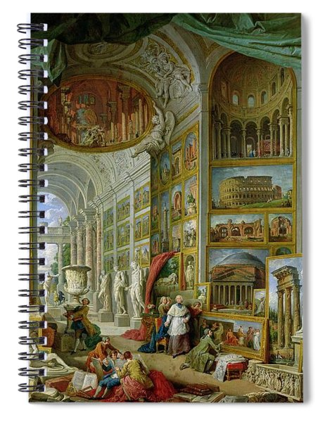 Gallery Of Views Of Ancient Rome Spiral Notebook