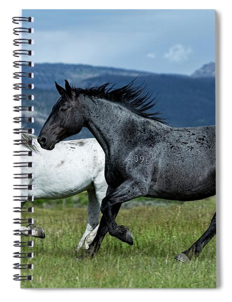 Galloping Through The Scenery Spiral Notebook
