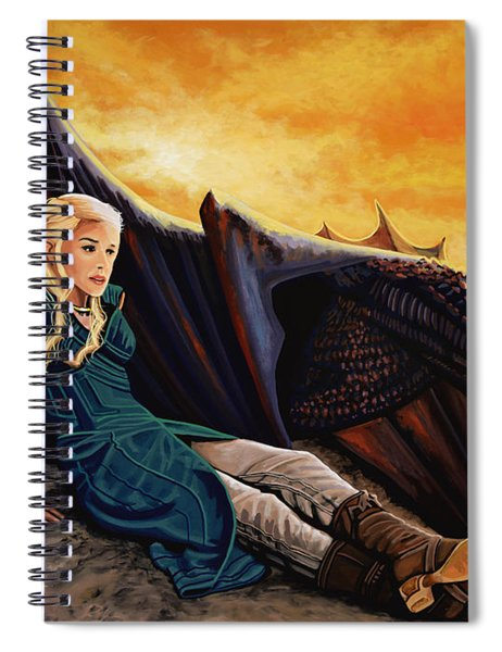 Game Of Thrones Painting Spiral Notebook
