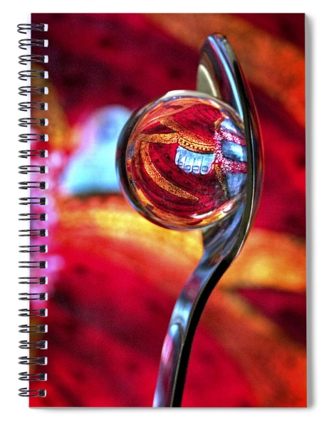 Spiral Notebook featuring the photograph Ganesh Spoon by Skip Hunt