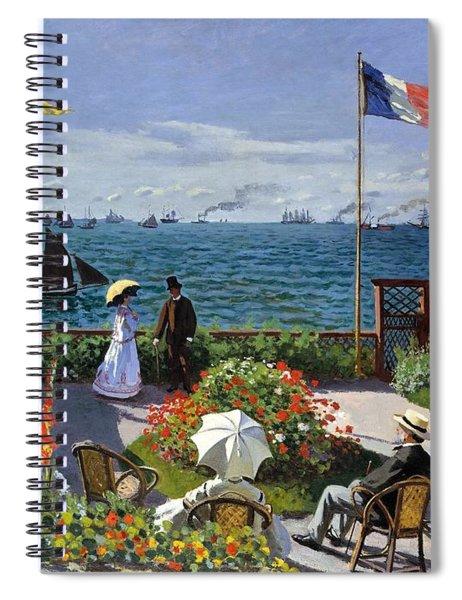 Garden At Sainte Adresse By Claude Monet Spiral Notebook