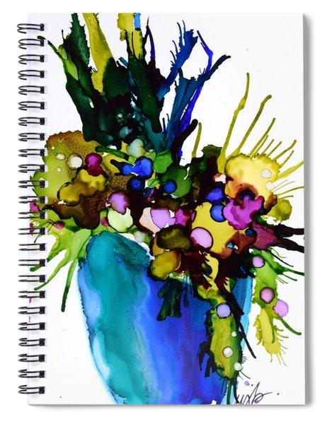 Garden Blues Spiral Notebook