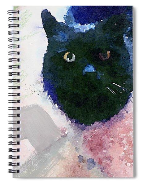 Garden Cat- Art By Linda Woods Spiral Notebook