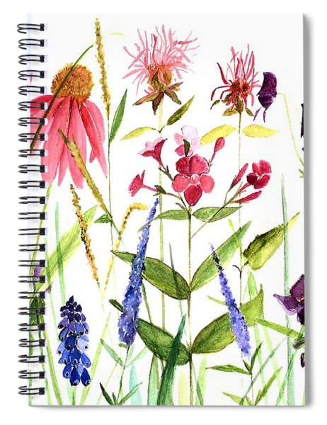 Garden Flowers Spiral Notebook