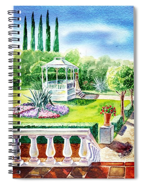Garden Gazebo Spiral Notebook