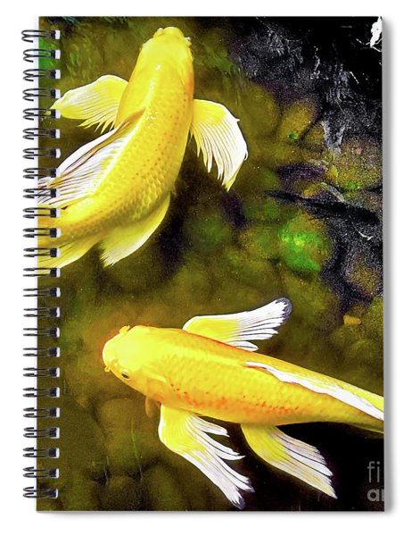 Garden Goldenfish Spiral Notebook