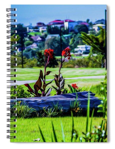 Garden Log Spiral Notebook