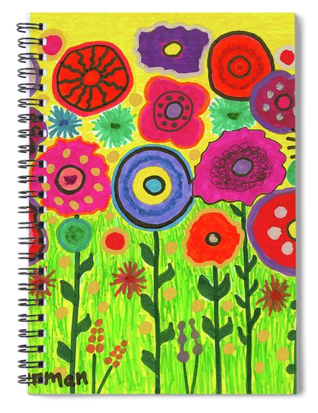 Garden Of Blooming Brilliance Spiral Notebook
