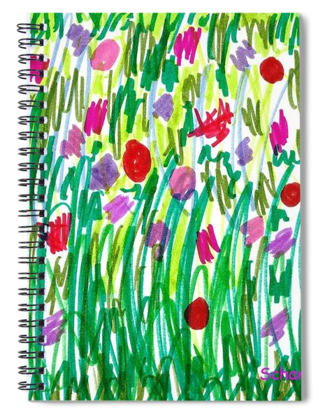 Garden Of Flowers Spiral Notebook