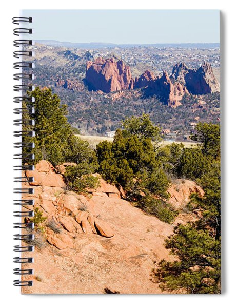 Garden Of The Gods And Springs West Side Spiral Notebook