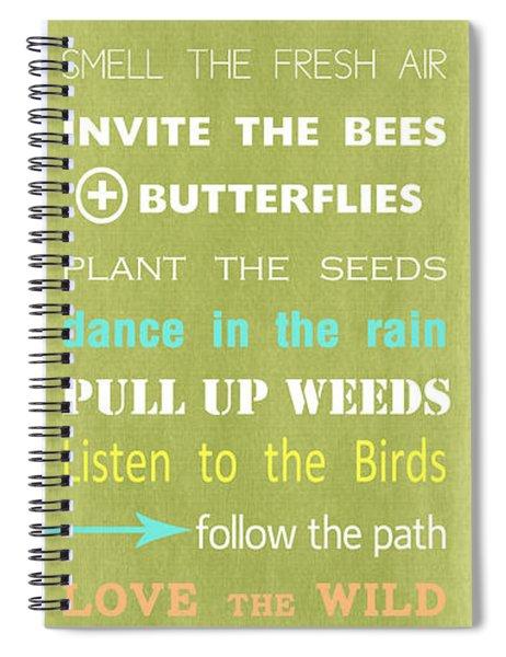 Garden Rules Spiral Notebook
