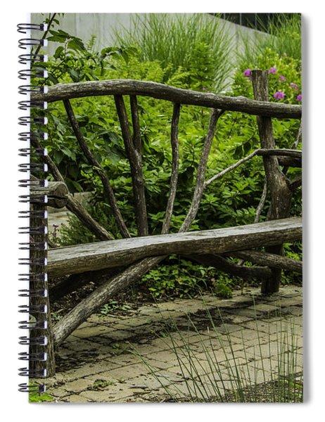 Garden Tree Bench Spiral Notebook