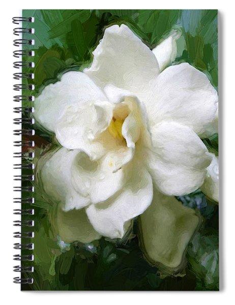 Gardenia Blossom Spiral Notebook