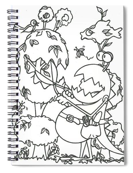 Gardening Monster Spiral Notebook