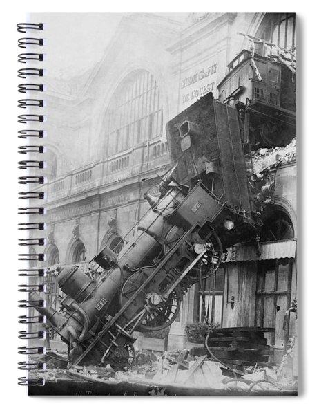 Gare Montparnasse Train Wreck 1895 Spiral Notebook